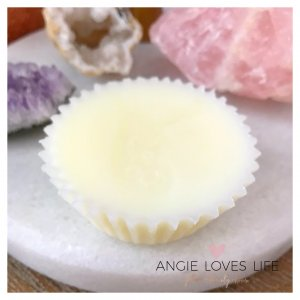 rose oil coconut lotion bars