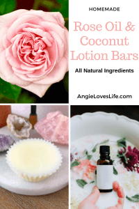 rose oil and coconut lotion bars